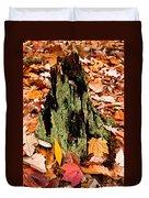 Lichen Castle In Autumn Leaves Duvet Cover