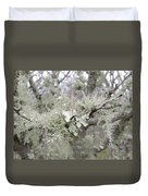 Lichens In The Plums Duvet Cover