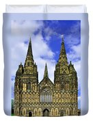 Lichfield Cathedral - The West Front Duvet Cover