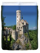 Lichtenstein Castle Duvet Cover by Yair Karelic