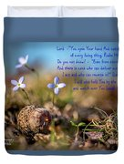 Life Delicate And Strong Duvet Cover