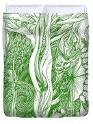 Life Force  - Green Duvet Cover