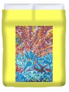 Life Ignition Mural V1 Duvet Cover