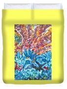 Life Ignition Mural V2 Duvet Cover