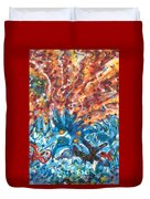 Life Ignition Mural V3 Duvet Cover