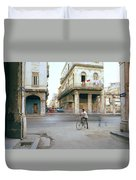 Life In Cuba Duvet Cover