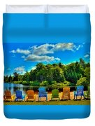Life In The Adirondack Mountains Duvet Cover