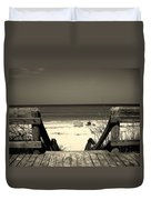 Life Is A Beach Duvet Cover by Susanne Van Hulst