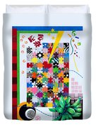 Life Is A Puzzle Duvet Cover