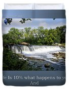 Life Is Staying Above The Debris Duvet Cover