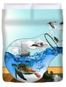 Life On Earth Duvet Cover