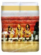 Life On The Bench Duvet Cover