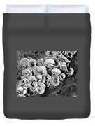 Life On The Rocks In Black And White Duvet Cover