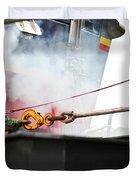 Lifeboat Chocks Away  Duvet Cover by Terri Waters