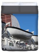 Lifeboat On Queen Mary Duvet Cover