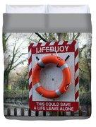 Lifebuoy Theft Duvet Cover