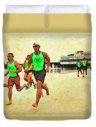 Lifeguard Runners Duvet Cover