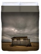 Lifeguard Shack Duvet Cover by Evelina Kremsdorf
