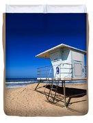 Lifeguard Tower Photo Duvet Cover
