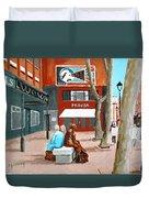 Liffey Street, Dublin Duvet Cover