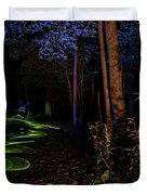Lighit Painted Forest Scene Duvet Cover
