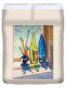 Light And Bottles Duvet Cover