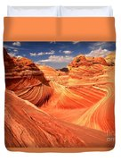 Light And Dark At The Wave Duvet Cover