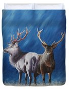 Light And Dark Stags Duvet Cover