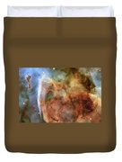 Light And Shadow In The Carina Nebula Duvet Cover