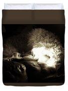 Light As He Tries To Sleep Duvet Cover
