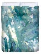 Light Blue Crystals Duvet Cover