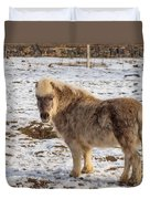 Light Brown Pony Duvet Cover