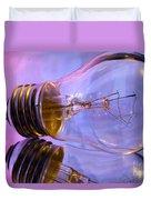 Light Bulb - Multi Color Duvet Cover