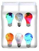 Light Bulbs Duvet Cover