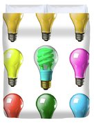 Light Bulbs Of A Different Color Duvet Cover