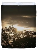 Light Chasing Away The Darkness Duvet Cover