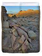 Light Fading On Valley Of Fire Duvet Cover