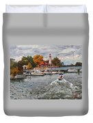 Light House Mississauga Duvet Cover