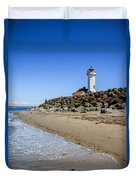 Light House - Port Townsend, Wa Duvet Cover