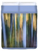 Light In Evening Forest Duvet Cover