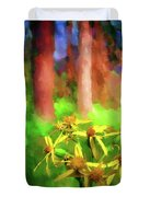 Light In  The Forest Duvet Cover