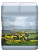 Light In The Valley At Rhug. Duvet Cover