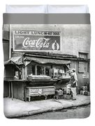 Light Lunch - Hot Dogs - Coca Cola Duvet Cover