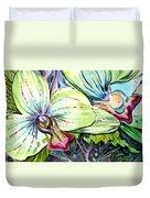 Light Of Orchids Duvet Cover