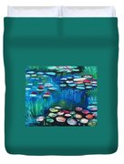 Light Of The Lillies Duvet Cover