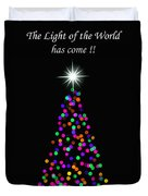 Light Of The World Christmas Card Duvet Cover