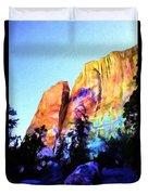 Light On Cliffs Duvet Cover
