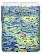 Light On Lily Pads Duvet Cover