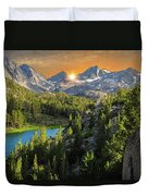 Light On Mack Lake Duvet Cover