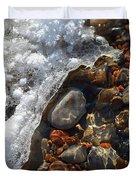 Light On Rocks And Ice  Duvet Cover